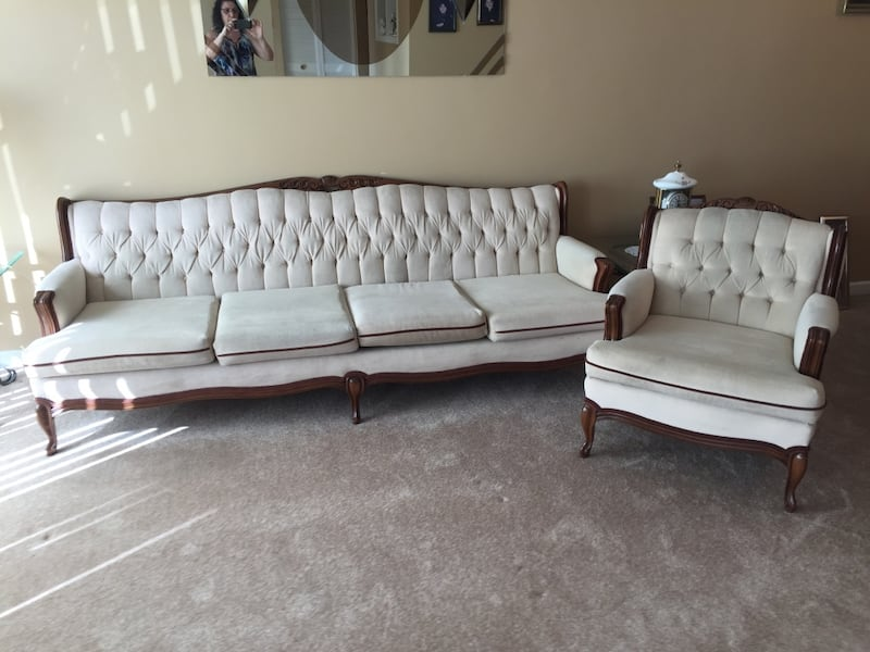 Sold Vintage French Provincial Sofa In