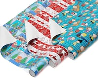 American Greetings Peanuts Christmas Gift Wrapping Paper - 3 Rolls