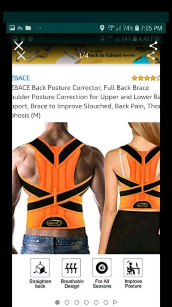 Used Zsczbace Posture Corrector For
