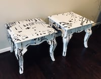 white and black floral wooden nesting table Great Falls, 22066