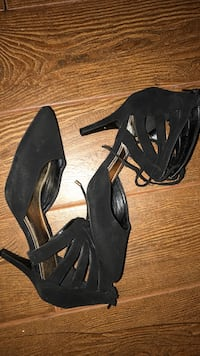 pair of black peep-toe platform stilettos Palm Desert, 92260