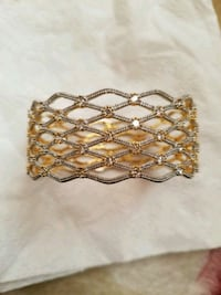 White and gold bangles Bristow