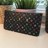 LV Monogram Multi Color Men Women Soft Leather Zippy Wallet Falls Church, 22042