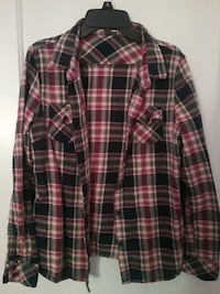 red white and black plaid sports shirt Brea, 92821