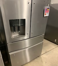 "❥New whirlpool French door double drawer 36"" stainless fridge - Seaford"