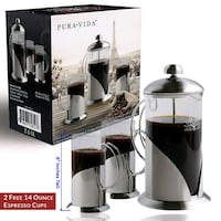 New 8 cup French press with 2 cups and extra scree Fairfax, 22030