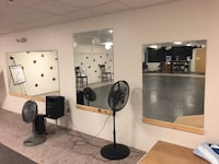 3 lrg mirrors for sale; previously owned by dance studio.. like new! (Left to right) 8ft x 4ft - $45; 60in x 40in - $25; GET ALL 3 for $70!! 148 mi