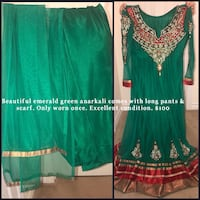 women's green and red dress Ajax, L1Z 0G9