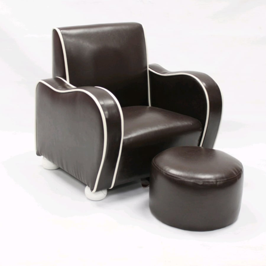 Kids brown chair with ottoman armchair kids room brown lounger decor 4c3f5124-ca28-4bf6-895d-0d858880ea00