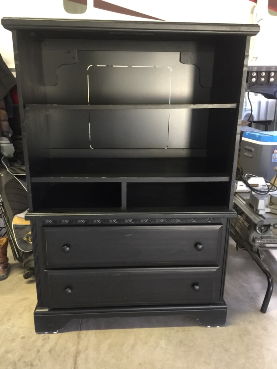 black wooden drawers and rack - Nemo