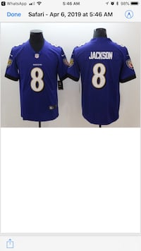 NFL NIKE Brand New Stitched On Field XL and L Baltimore Ravens Lamar Jackson Jerseys. Available Now  Hanover, 21076