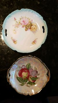 white and pink floral ceramic plate Ottawa, K2T 0G1