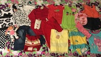 Toddler assorted clothes 20 pcs lot + 5 matching hair clips + toy for 1-2 years Mud Pie, Gymboree, Polo Ralph Lauren, etc