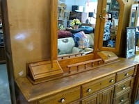 Dresser solid oak at S&S thrift store