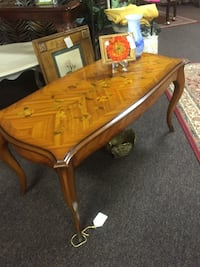 Antique Coffee Table Floral Inlay Lafayette, 70503