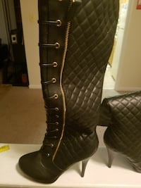 black leather knee high boots  Alexandria, 22306