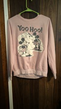 pink and white Mickey Mouse sweater Blairstown, 07825