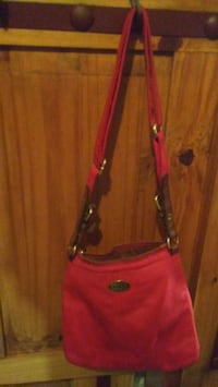 Red Leather Fossil Purse Temple, 76502