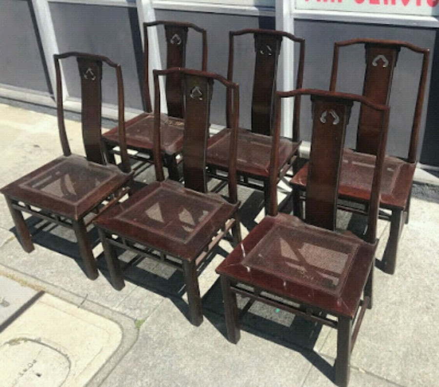 LetGo & #27076 Set of 6 Chinese Dining Chairs -