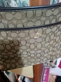 monogrammed brown Coach leather bag Fort Smith, 72903