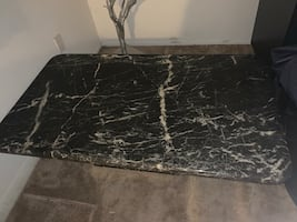 Black Marble Coffee Table (REAL MARBLE)