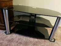 Black glass and Chrome TV  Stand Clearwater, 33764