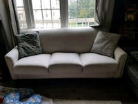 white fabric 3-seat sofa Alexandria, 22302
