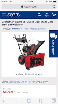 Craftsman snow blower  Youngstown, 44514
