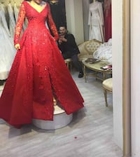 Red dress/Party dress/Henna dress London, N1