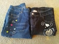 children's blue and black jeans