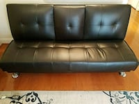 Tufted brown leather 3-seat sofa Rockville, 20850