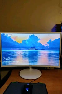 Samsung 27in curved LED monitor