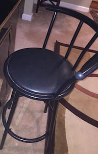 black leather padded bar seat Morton Grove, 60053