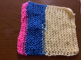 Home made dish cloth