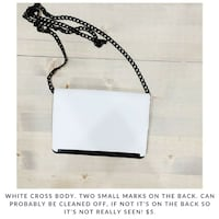 white and black leather crossbody bag San Diego