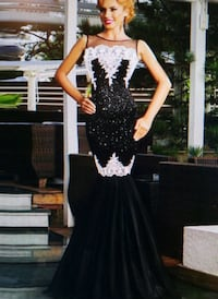Size 6, 10: Black Sequined Long Evening Dress Lewisville, 75067