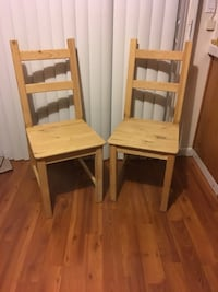 pine wooden chairs (Qty 2)