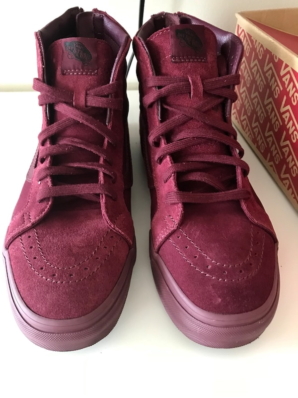 7a55c7dba9 Used Men Vans Sk8-Hi  Suede Burgundy size 10.5 for sale in Merrick - letgo