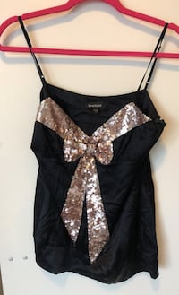 Medium Bebe silk bow tank Toronto, M4S 0A2