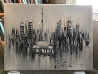 Toronto Skyline Oil Painting Mississauga, L5N 6E2