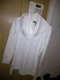 New White Sweater Cow Neck
