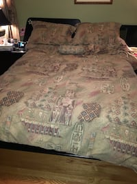 Duvet cover with matching curtains