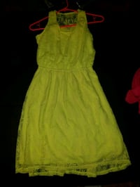 Yellow Dress Youth girls XL (Size 14-16) Arcadia, 91007