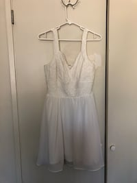Francesca's white lace dress