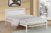 QUEEN SIZE WHITE METAL BED  Toronto