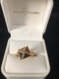 diamond embellished gold ring in box Nokesville, 20181