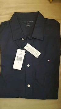 blå Tommy Hilfiger button-up skjorte Hamar, 2316