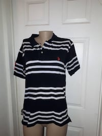 Us Polo Mens Black And White Large Shirt perfect condition Ottawa