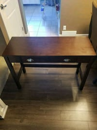 Console Table. Light brown with 1 drawer.  Calgary, T2W