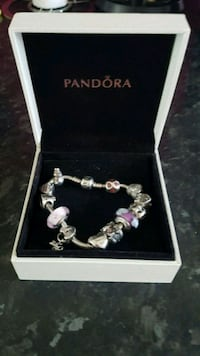 Used silver-colored Pandora charm bracelet for sale in Birmingham ... be1a51c16e162